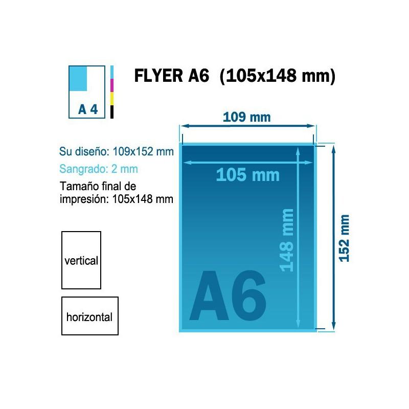 Impresión de flyers económicos tamaño A6