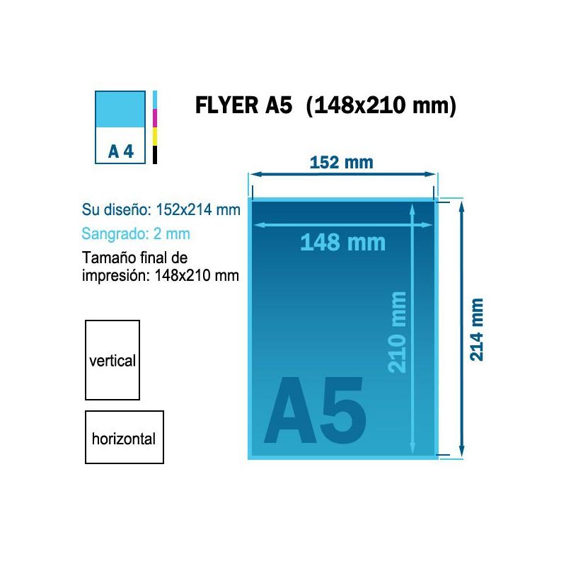 Impresión de flyers/volantes tamaño A5