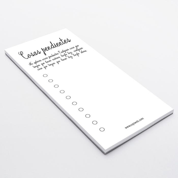 Blocs de notas personalizados tamaño DIN largo
