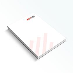Bloc de notas tamaño A5 (148x210 mm)