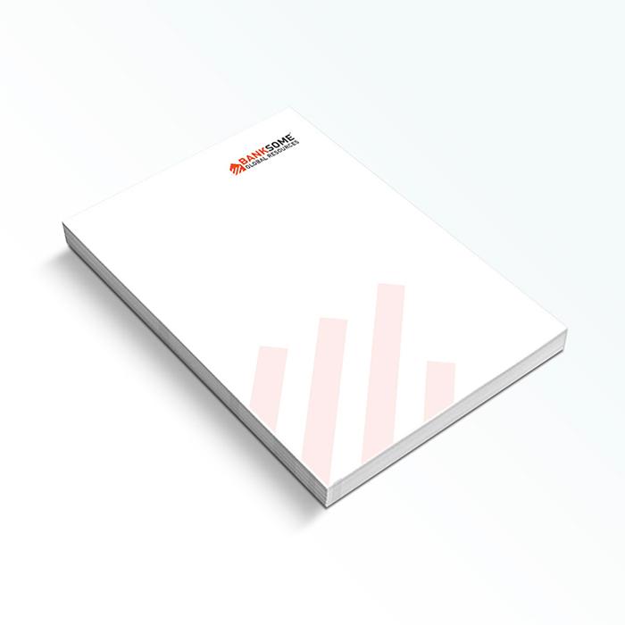 Impresión de blocs de notas personalizados tipo cuartilla
