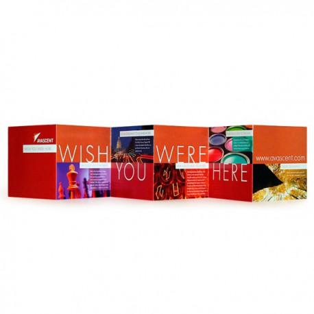 Folleto en formato cuadrado (carátula de CD - 12x12 cm)