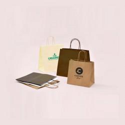 Bolsas de papel personalizadas, impresión 1 tinta