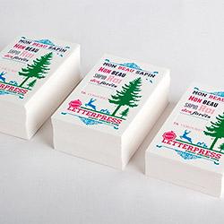 Tarjeta con impresión tipográfica
