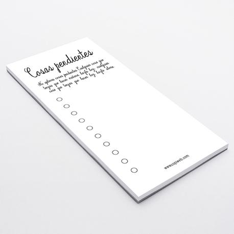 Bloc de notas tamaño DL Largo (105x210 mm)